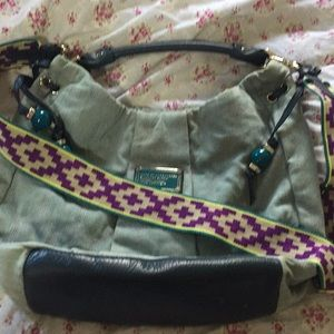 - Marc Jacobs bag with guitar camera strap
